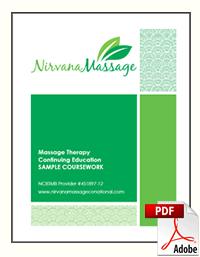 Nirvana Massage Sample Massage Therapy Coursework PDF File